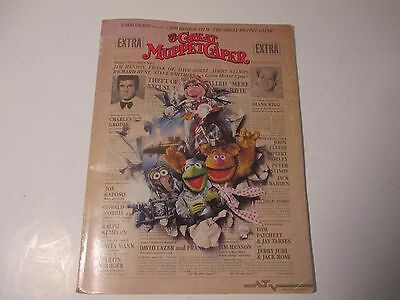 """Vintage """"The Great Muppet Caper"""" Music Book (1981)"""
