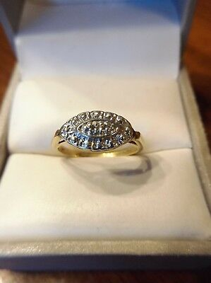 Antique Vintage 10kt Yellow and White Gold Engagement Ring Size 5 (700)