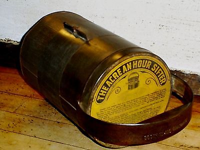 """Antique 1909 Farm Garden Crop Duster Hand Tool """"THE ACRE AN HOUR SIFTER """" 1909"""