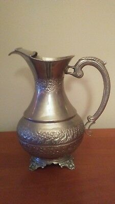 Silver tone water pitcher unmarked