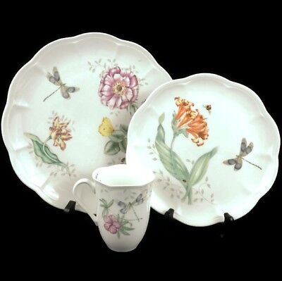 NEW Lenox China Butterfly Meadow Dragonfly Dinner & Luncheon Plate Mug