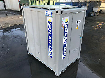 7ft x 5ft - Anti Vandal Toilet | Solar Loo | Eco-12v Solar Power |Self-Contained