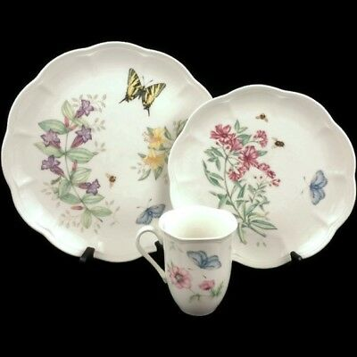 NEW Lenox China Butterfly Meadow Swallowtail Dinner & Luncheon Plate Mug