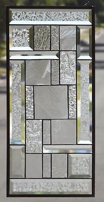"•American Sycamore  • Beveled Stained Glass Window Panel-22 ½"" x 10 ½""(57X27 cm)"