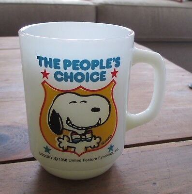 """1980 COLLECTORS SERIES No.4 SNOOPY Mug """"THE PEOPLE'S CHOICE"""" #5"""