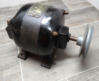 Vintage General Electric GE 1/4hp Motor antique cast iron works #26136 Type SA