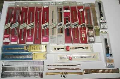 LOT of ViNTAGE WRiSTWATCH WATCH BANDS - TOPPS - TWiST ON - METAL - LEATHER +
