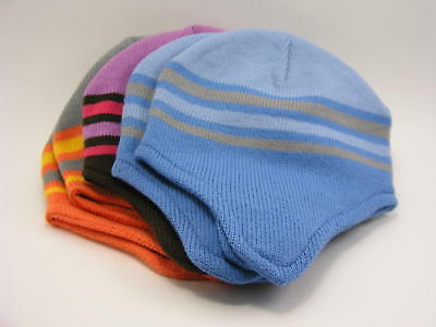 Ear Flap Beanie Hats Lot of 5 Assorted Colors