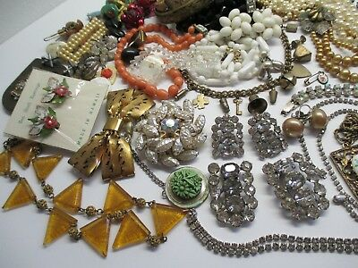 ANTiQUE & ViNTAGE JEWELRY * BiTS & PiECES * ODD & ENDS * NEAT LOT of OLD STUFF