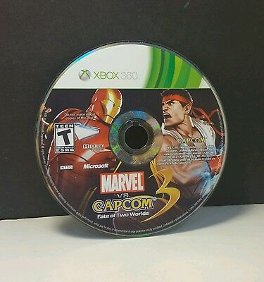 Marvel vs. Capcom 3: Fate of Two Worlds (Xbox 360, 2011)(DISC ONLY) #9297