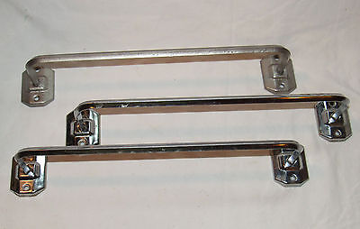 "Vintage 1950s art deco Autoyre Fairfield 13"" Silver chrome towel Wall rod rack"