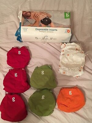 gdiapers: Small /  6 gpants / 7 pouches / 5 packages disposable insters 40 count