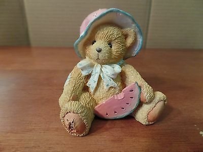 1993 Enesco Cherrished Teddies July/Julie Figurine #1910