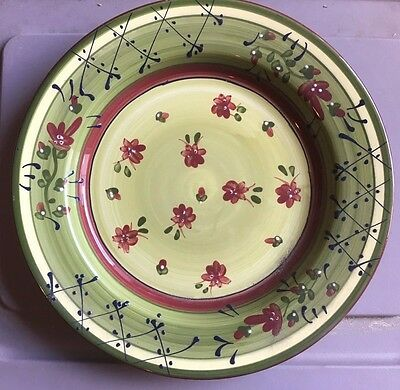 """New 4 Ambiance Fleuron SOPHIA Dessert Plates Romancing Provence Collection 9"""""""