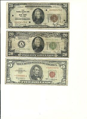 (3) SMALL SIZE TYPE NOTE ASSORTMENT  ($45 Face Value)
