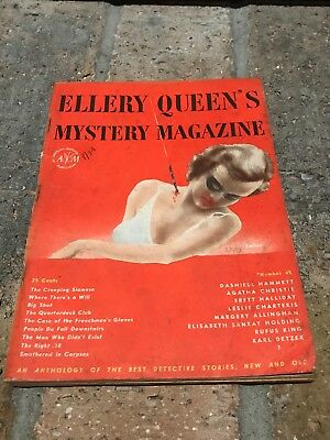 Ellery Queen's Mystery Magazine August 1947 Vol 10 No 45 - Agatha Christie