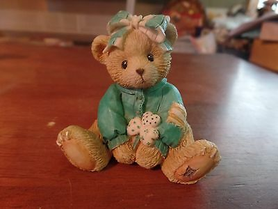 "1993 Enesco Cherrished Teddies ""Kathleen"" Figurine-916447 #1998"