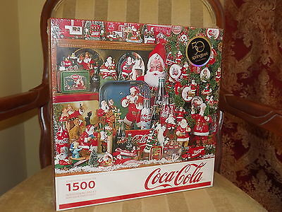 2013 Springbok A Coca Cola Christmas Santa Puzzle 1500 Pieces Sealed NRFB