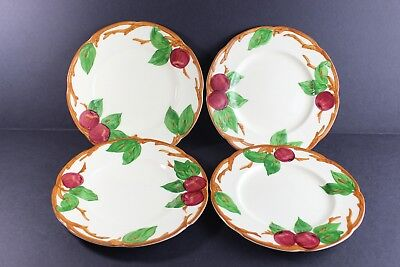"""Vintage 1950's FRANCISCAN Apple Pattern 8"""" Salad Plate Set Of 4 With Small Chips"""