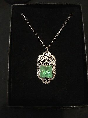 FAMOUS Ostby Barton vintage Art Deco STUNNING necklace! MUST SEE! •TITANIC
