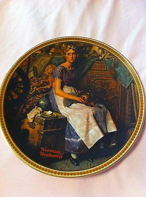 """Norman Rockwell """"DREAMING IN THE ATTIC"""" Plate """"Rediscovered Women"""" Series"""