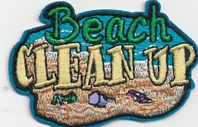 Girl Boy Cub BEACH CLEAN UP Coastal Pick Fun Patches Crests Badges SCOUT GUIDE