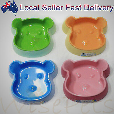 Pet Dog Cat Water Food Plastic Bowl Feeder Dishes Base Anti-Skid Small & Large