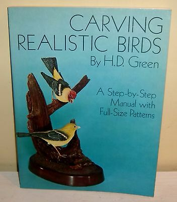 Carving Realistic Birds Patterns Wood Carved Step By Step Manual Full Sized 1977