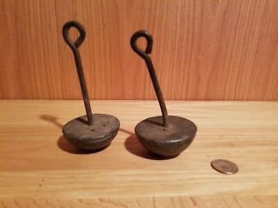 Two Vintage Large Heavy Lead Goose Duck Decoy Weights - Weight 1 LB 5 oz Each