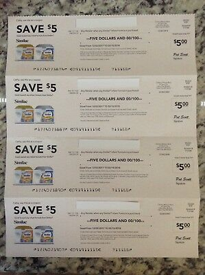 (4) SIMILAC Infant Formula $5 OFF Coupons/Checks, Total of $20; Exp. 2/15/18