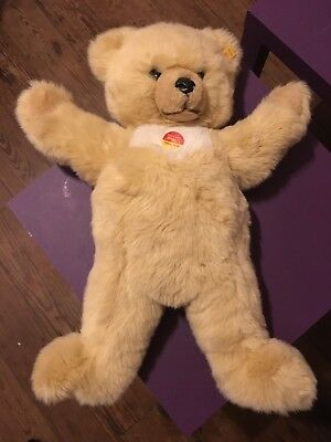 Steiff MOLLY Teddy Bear #0321/55 Champagne Vintage With Tags Display Use Only