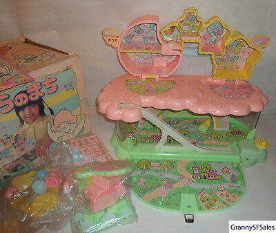Vintage 1976 Sanrio Kiki Lala Little Twin Stars Sky City Playset New