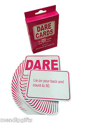 Hen Party Dare Cards Hen Night Games Accessories Party Bags Bride To Be Favours