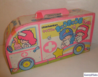 Vintage 1985 Sanrio Little Twin Stars Kiki Lala Ambulance Playset by Takara