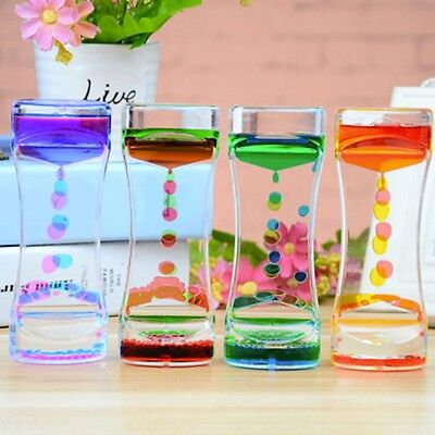 Floating Color Mix Illusion Timer Slim liquid Oil Hourglass Timer Clock Decor