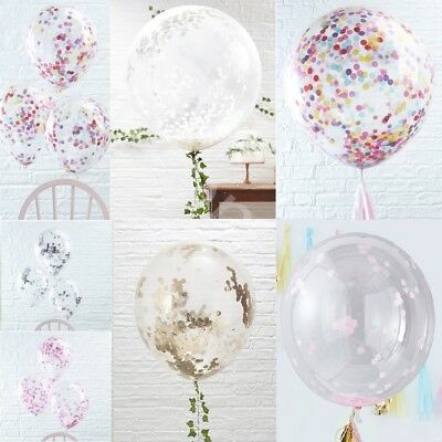 CONFETTI FILLED BALLOONS Helium Quality Wedding Hen Birthday Party Decorations