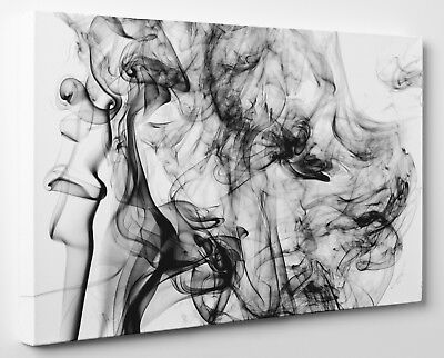 BLACK AND WHITE Woman Face Abstract Canvas Print Wall Art Framed ...