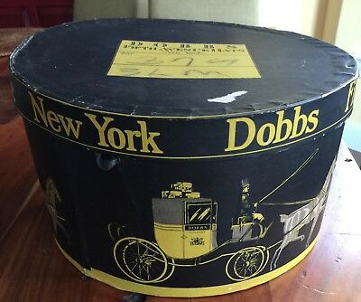 Vintage DOBBS FIFTH AVENUE HATS NEW YORK Octagonal HAT BOX