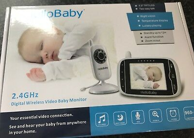 HelloBaby HB32 Wireless Digital Baby Monitor Night Vision - Read Description