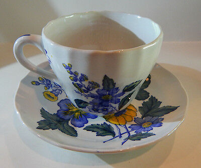 SPODE BLUE FLOWERS S3369 CUP & SAUCER SET MADE IN ENGLAND set #66