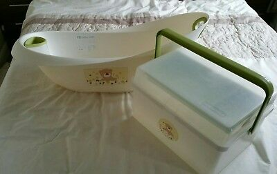 Baby bath and toiletry box
