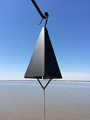 """12"""" Large Black Wrought Iron Metal Buoy Bell Wind Chime Handmade in USA"""