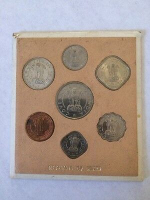 Government Republic Of India 1954 7 Coin Uncirculated Set Rare Coin Collection