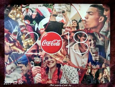 Official Licensed 2018 Coca-Cola 12 Month Calendar Free USA Shipping Tax Free