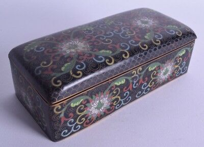 fine quality early 20th century chinese cloisonne enamel box casket antique