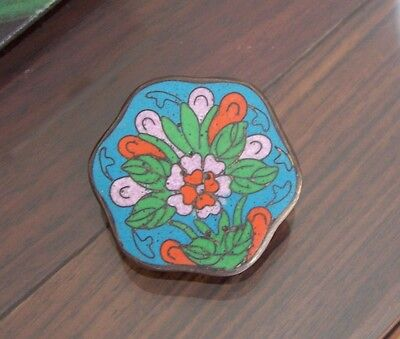 The ancient relic copper enamel flower presses button
