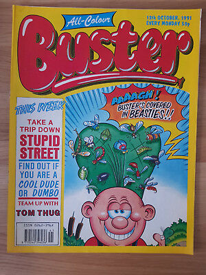 All-Colour Buster Comic from 12th October 1991 in good condition.