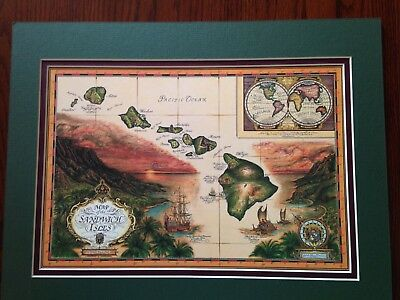 The Sandwich Isles Artistic Map By Blaise Domino 1993