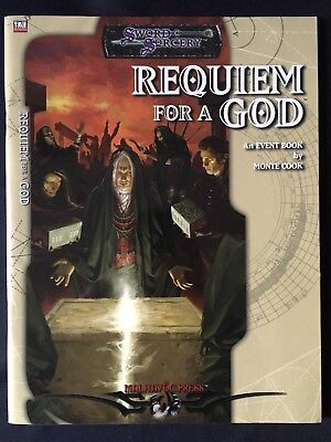 Requiem For A God - Sword & Sorcery Event Book by Monte Cook - d20 system MINT