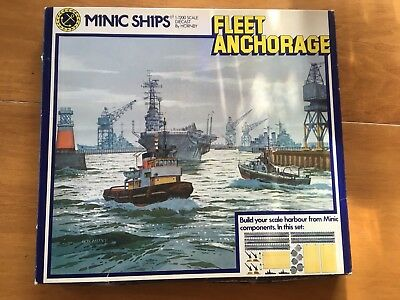 Hornby Minic Ships 1:1200 scale FLEET ANCHORAGE boxed complete M904